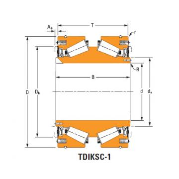 tdik thrust tapered roller bearings JHH932136dw JHH932119w