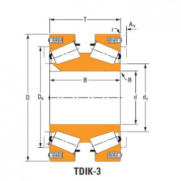 tdik thrust tapered roller bearings lm974534dw lm974511