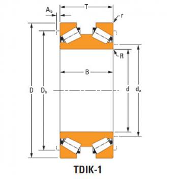 tdik thrust tapered roller bearings lm765148dw lm765111