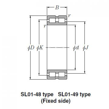 SL Type Cylindrical Roller Bearings NTN SL02-4832