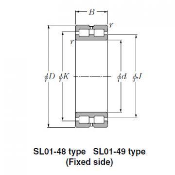 SL Type Cylindrical Roller Bearings NTN SL02-4922