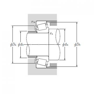 Single Row Tapered Roller Bearings NTN EE526130/526190