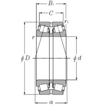 Double Row Tapered Roller Bearings NTN CRD-8008