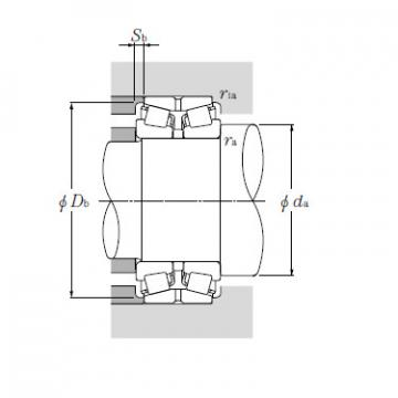Double Row Tapered Roller Bearings NTN T-EE134100/134144D+A