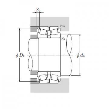 Double Row Tapered Roller Bearings NTN T-EE640192/640261DG2+A