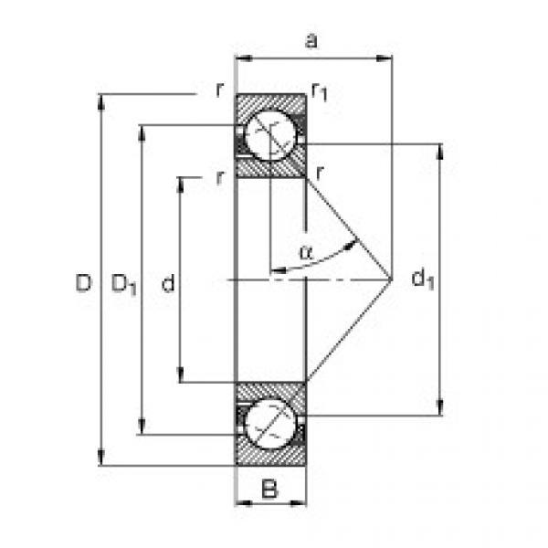 angular contact thrust bearings 71816-B-TVH FAG #5 image
