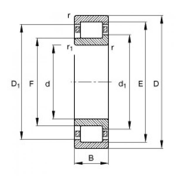 Cylindrical Bearing NJ332-E-M1 FAG #1 image