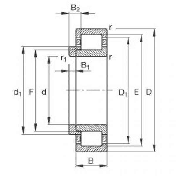 Cylindrical Bearing NJ308-E-TVP2 + HJ308-E FAG #1 image