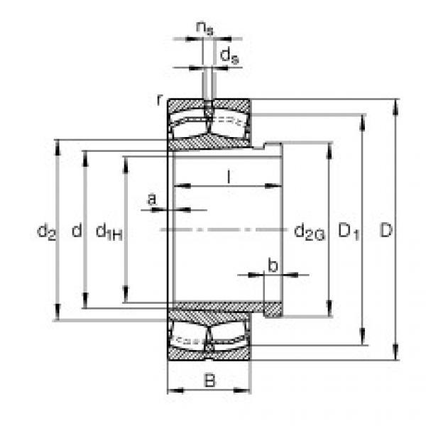 Spherical Roller Bearings 22213-E1-K + AH313G FAG #1 image