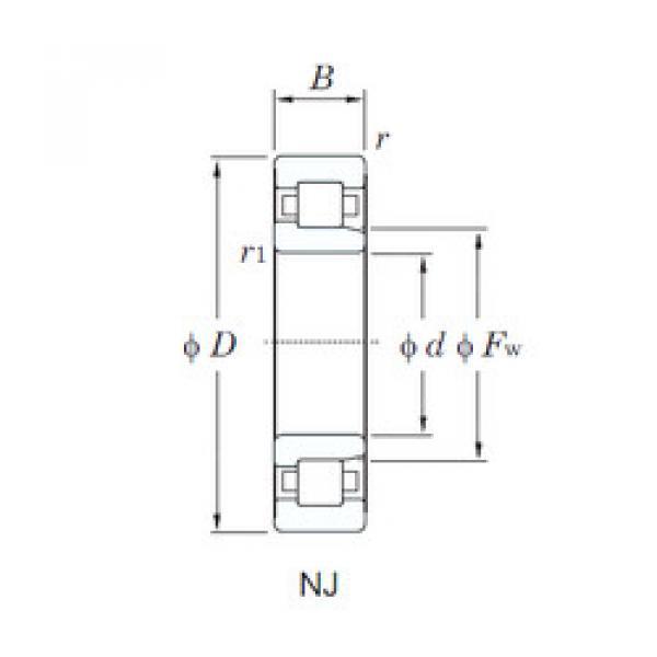 Cylindrical Bearing NJ309R KOYO #1 image