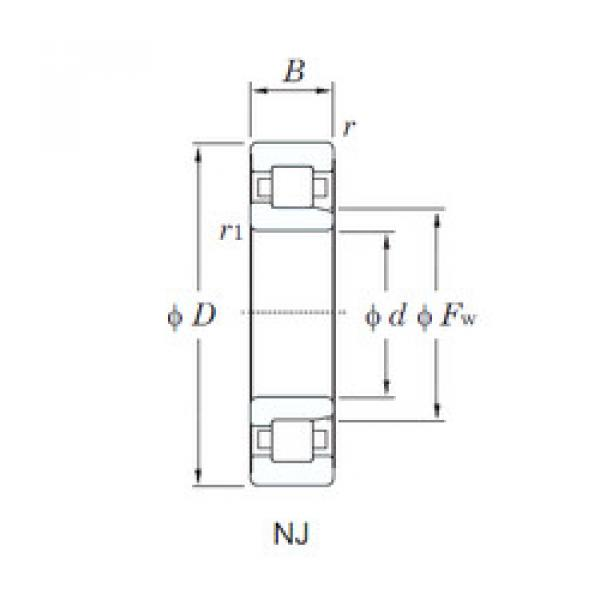 Cylindrical Bearing NJ332R KOYO #1 image