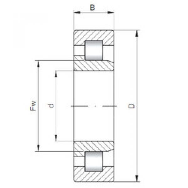 Cylindrical Bearing NJ312 ISO #1 image