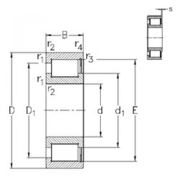 Cylindrical Bearing NCF3022-V NKE #1 image