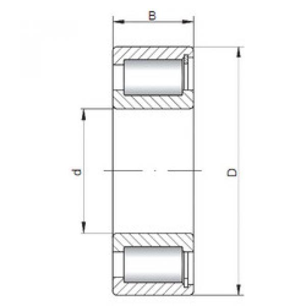 Cylindrical Bearing NCF3008 V ISO #1 image