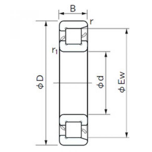 Cylindrical Bearing NF 308 NACHI #1 image