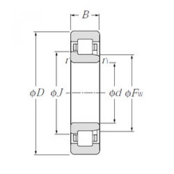 Cylindrical Bearing NJ317E NTN #1 image