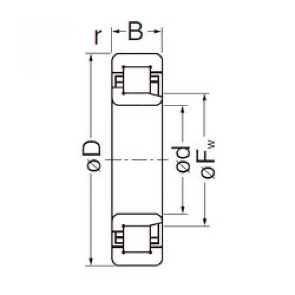 Cylindrical Bearing NJ306EG NACHI #1 image