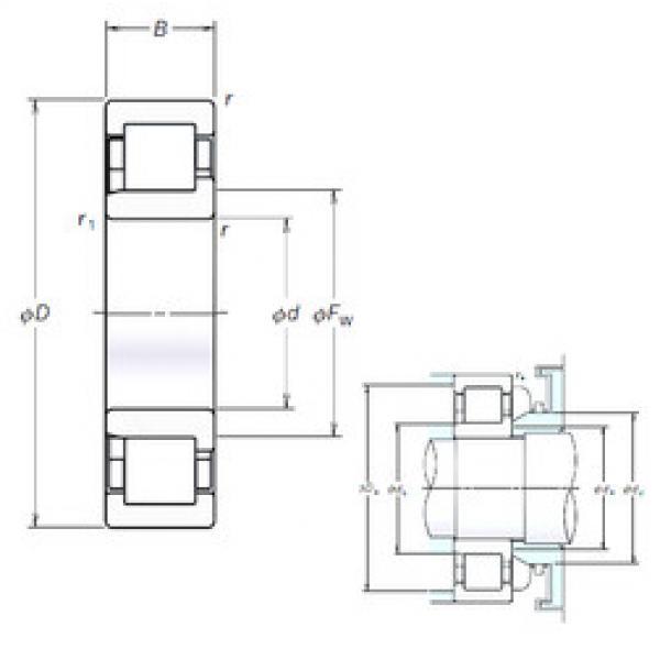 Cylindrical Bearing NJ307EM NSK #1 image