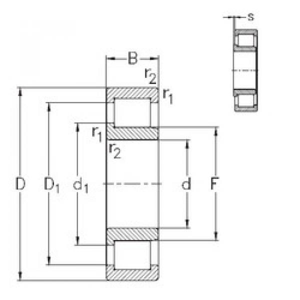Cylindrical Bearing NJ2322-VH NKE #1 image