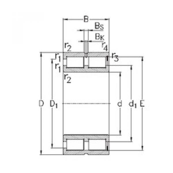 Cylindrical Bearing NNCF4834-V NKE #1 image