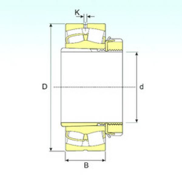 Spherical Roller Bearings 21308 EKW33+H308 ISB #1 image
