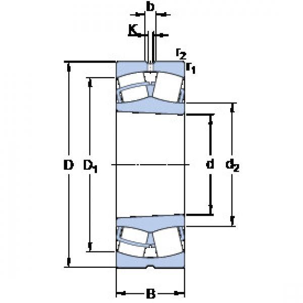 Spherical Roller Bearings 23028 CCK/W33 SKF #1 image