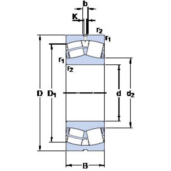 Spherical Roller Bearings 23028 CC/W33 SKF #1 image