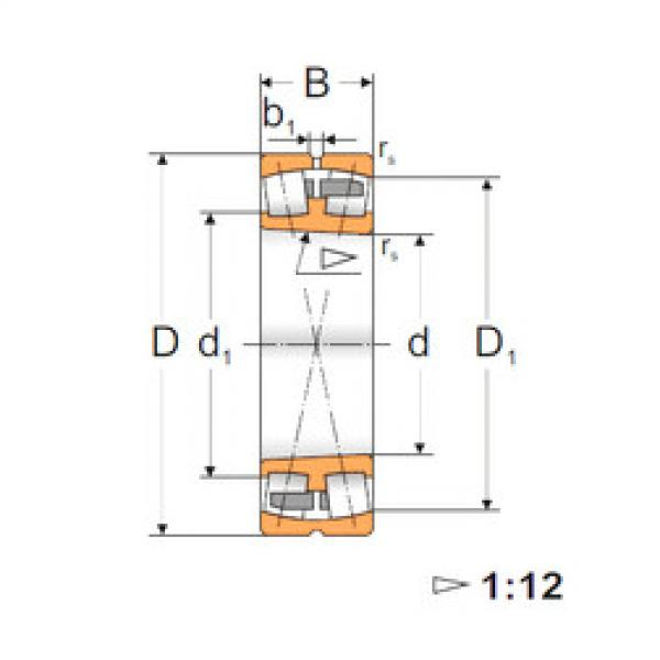 Spherical Roller Bearings 23022 KMBW33 MPZ #1 image