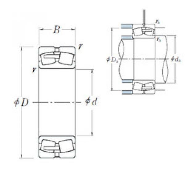 Spherical Roller Bearings 21322CAE4 NSK #1 image