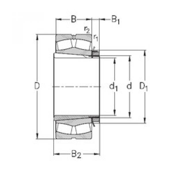 Spherical Roller Bearings 23036-K-MB-W33+H3036 NKE #1 image