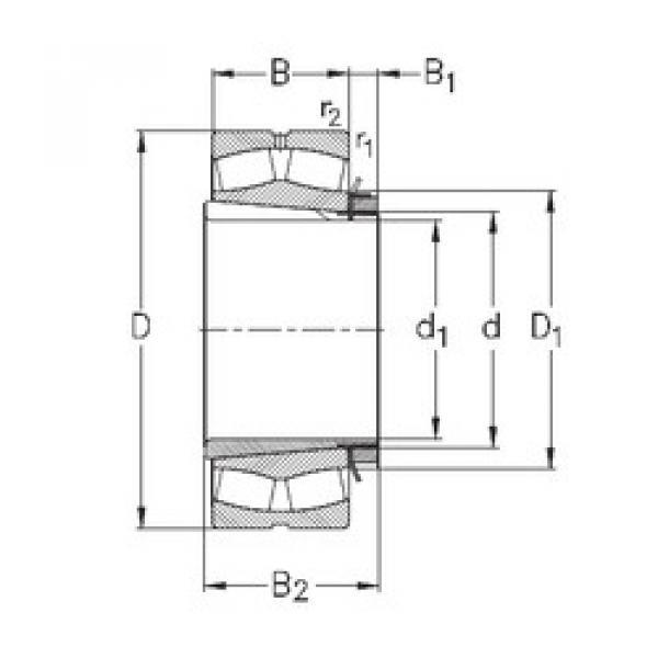 Spherical Roller Bearings 23136-K-MB-W33+H3136 NKE #1 image