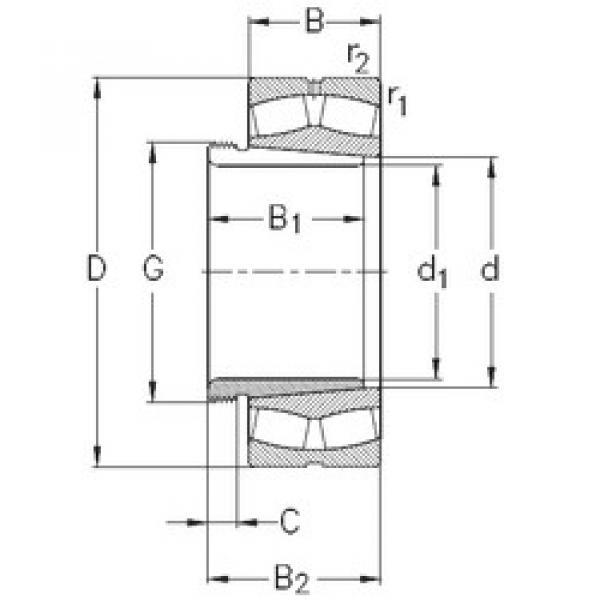 Spherical Roller Bearings 22322-E-K-W33+AHX2322 NKE #1 image