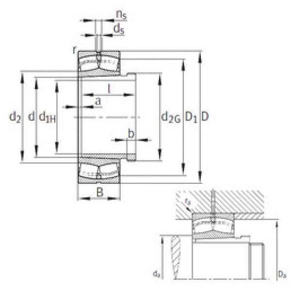 Spherical Roller Bearings 23140-B-K-MB+AH3140 FAG #1 image