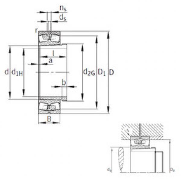 Spherical Roller Bearings 230/530-B-K-MB+AH30/530A FAG #1 image