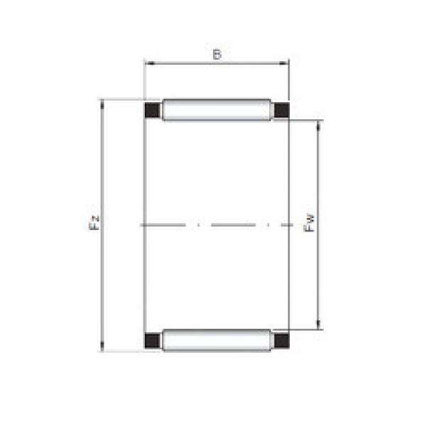 needle roller thrust bearing catalog K28x32x21 ISO #1 image