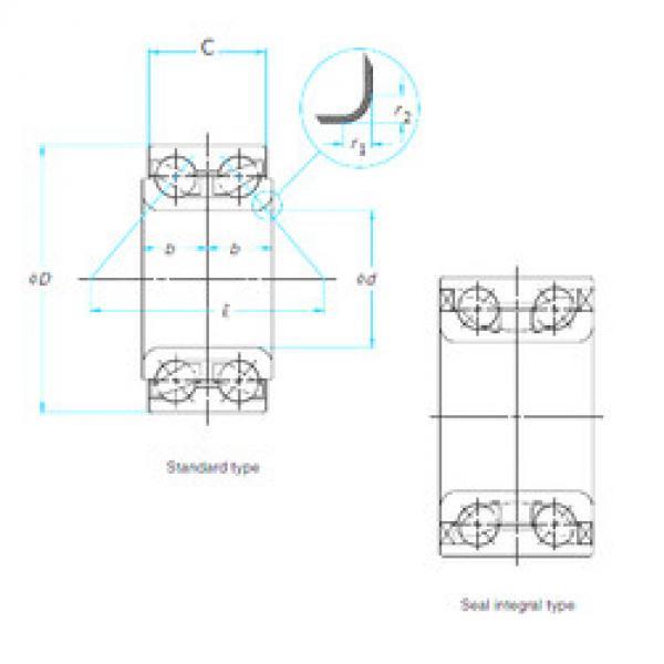 tapered roller bearing axial load ZA-44BWD02ACA96-01 E NSK #1 image
