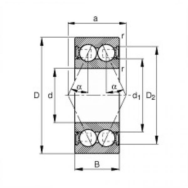 angular contact thrust bearings 3214-B-2RSR-TVH FAG #5 image
