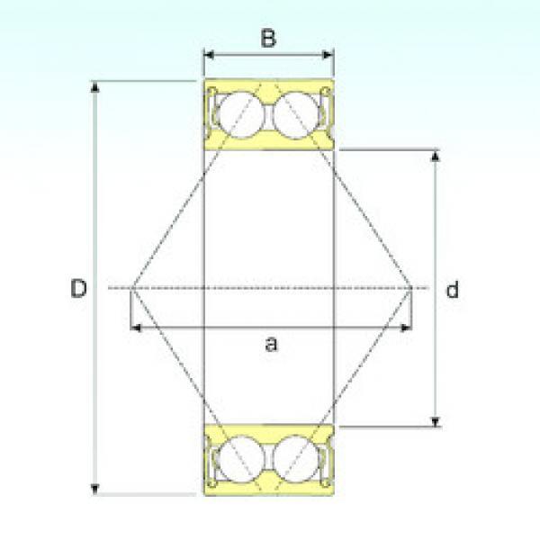 angular contact thrust bearings 3205-2RS ISB #5 image