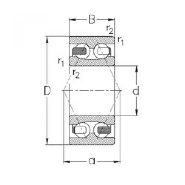 angular contact thrust bearings 3207-B-TV NKE #5 image