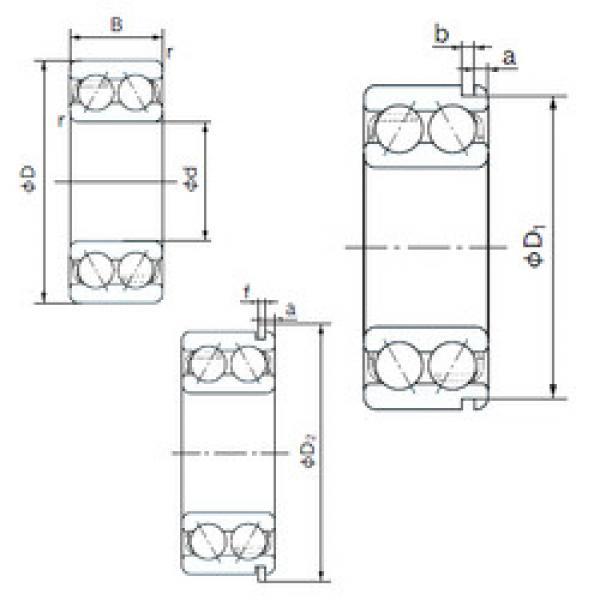 angular contact thrust bearings 5219NR NACHI #5 image