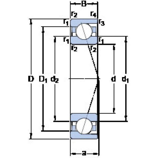 angular contact thrust bearings 71817 CD/P4 SKF #5 image