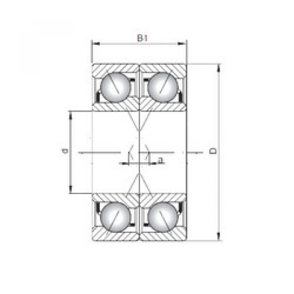 angular contact thrust bearings 7040 CDF ISO #5 image