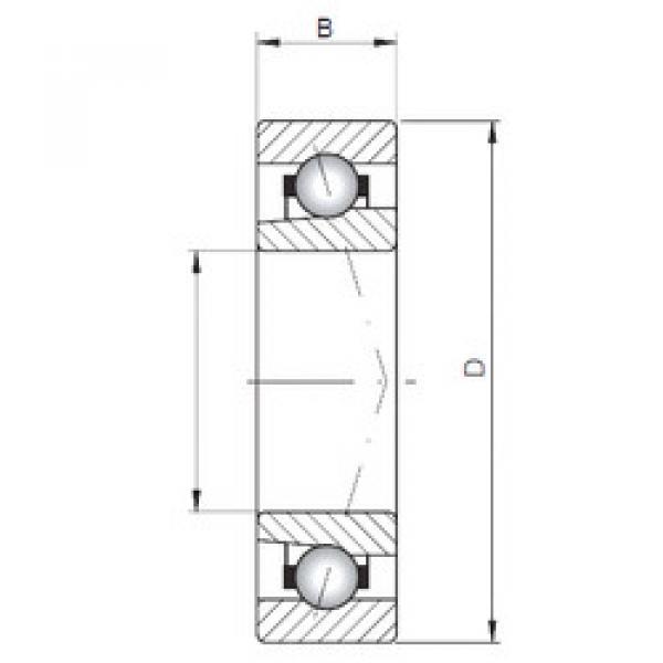 angular contact thrust bearings 71817 CTBP4 CX #5 image