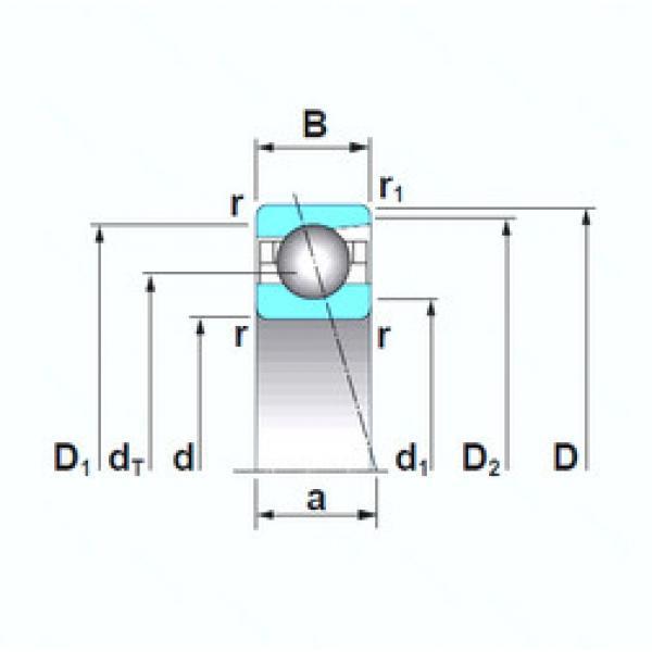 Angular Contact Ball Bearings 7919A5TRSU NSK #1 image