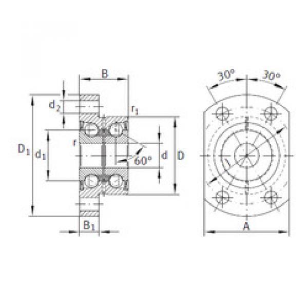 angular contact ball bearing installation ZKLFA1263-2RS INA #1 image