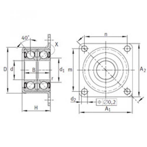 angular contact ball bearing installation ZKLR1244-2RS INA #1 image