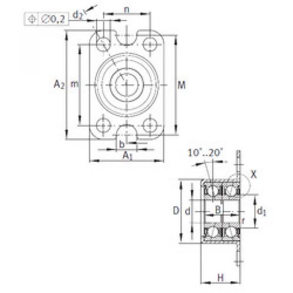 angular contact ball bearing installation ZKLR0624-2Z INA #1 image