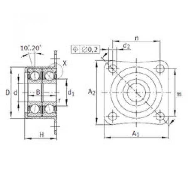 angular contact ball bearing installation ZKLR1035-2Z INA #1 image