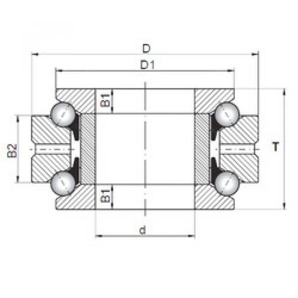 thrust ball bearing applications 234708 MSP CX #1 image