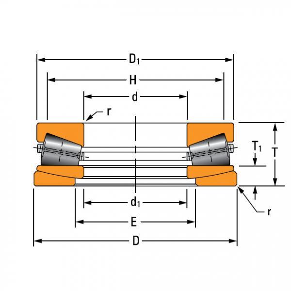 TTHDFLSA THRUST TAPERED ROLLER BEARINGS B–8750–G #2 image
